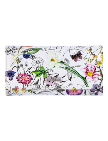 Botanics Large Leather wallet with RFID- Silver fitting detail