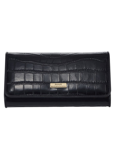 Pandora Large Leather Wallet with RFID- Black