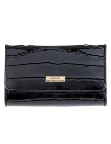 Pandora Medium Leather Wallet with RFID- Black