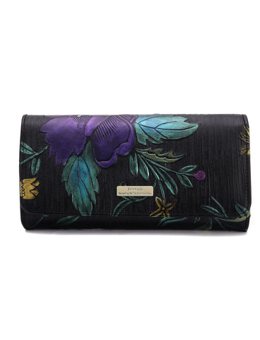Monet Hand Painted Large RFID leather Wallet