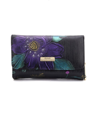 Monet Hand Painted Medium RFID Leather wallet