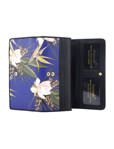 BLUE PARIDISE LARGE LEATHER WALLET- EASTER SPECIAL- 33% OFF