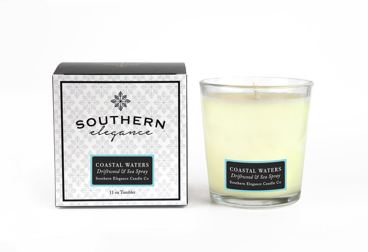 Southern Elegance Candle Co. - Tumbler: Coastal Waters: Driftwood & Sea Spray