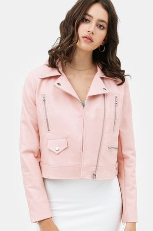 Heart Lines Leather Jacket (2 Colors)