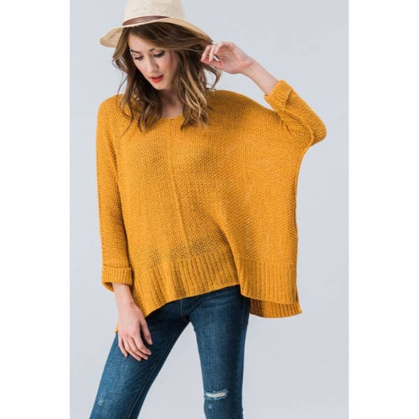 trend:notes - PLUS DOLMAN SLEEVE SOLID CASUAL SWEATER TOP
