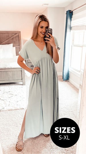 A Whole Mood Maxi Dress - Sage