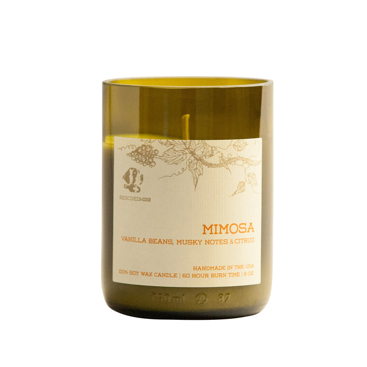 Rescued Wine - Mimosa Soy Candle  Balance Collection