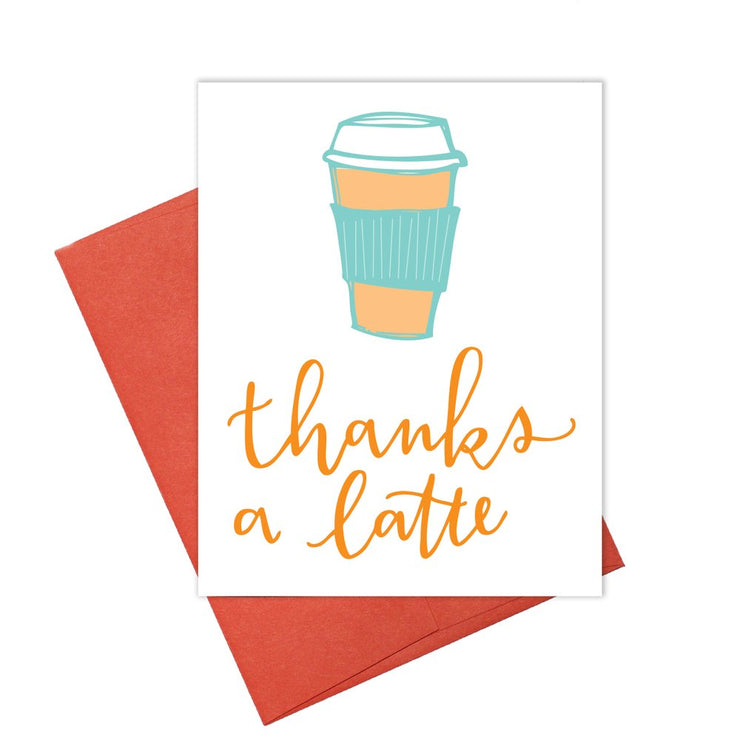 Colette Paperie - Latte Thank You Card