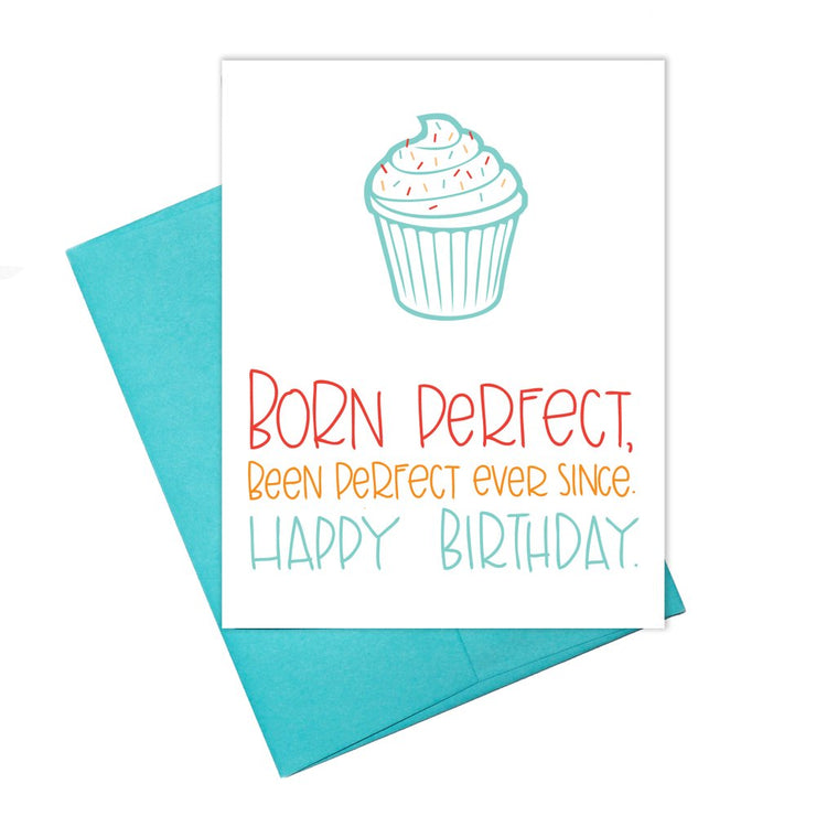Colette Paperie - Born Perfect Birthday Card