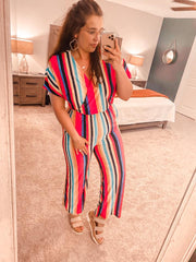 Evelina Striped Jumpsuit