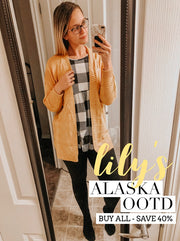 PRE-ORDER   Lily's Alaska OOTD - BABYDOLL TOP  (Estimated ship to September & Co. is Late November/Early December. 🎄GUARANTEED DELIVERY FOR CHRISTMAS.🎄)