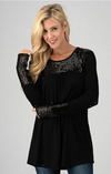 The Ashleigh Top  (Black)