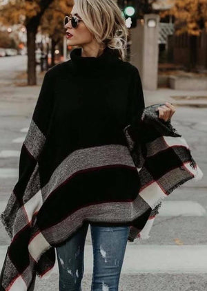 PRE-ORDER  Fringed Poncho  ships to us in 2-12 weeks
