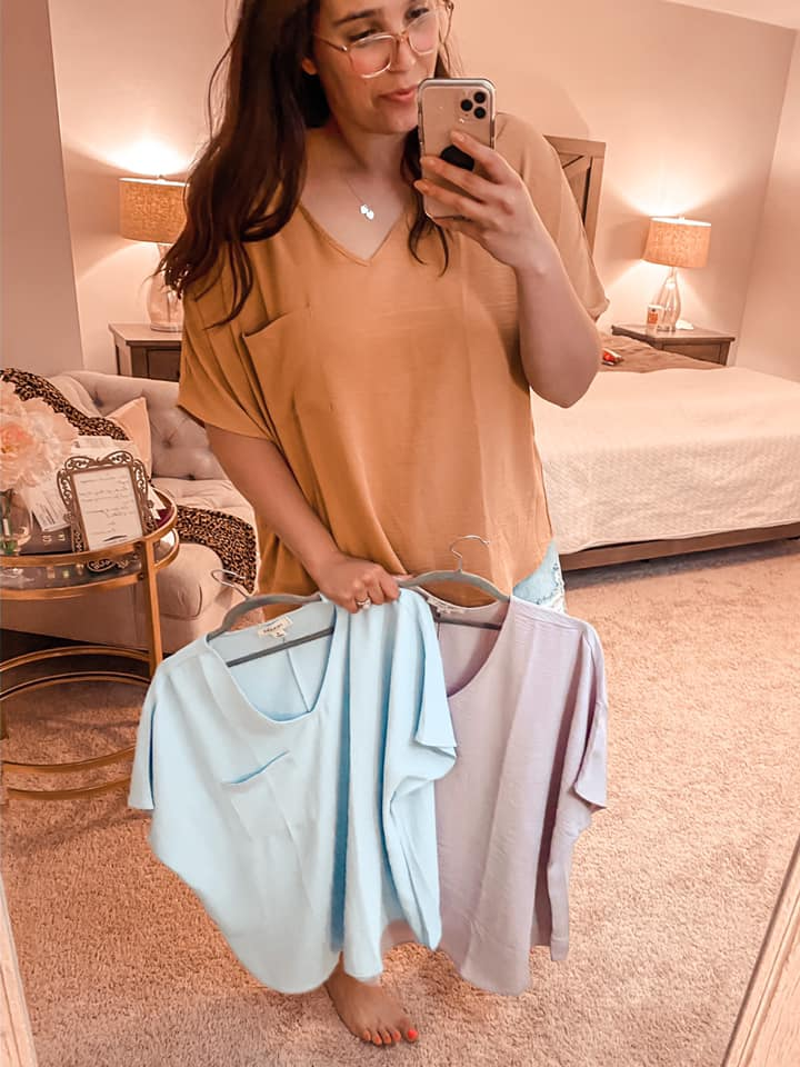 Best Selling Crepe Pocket Top - 3 Colors