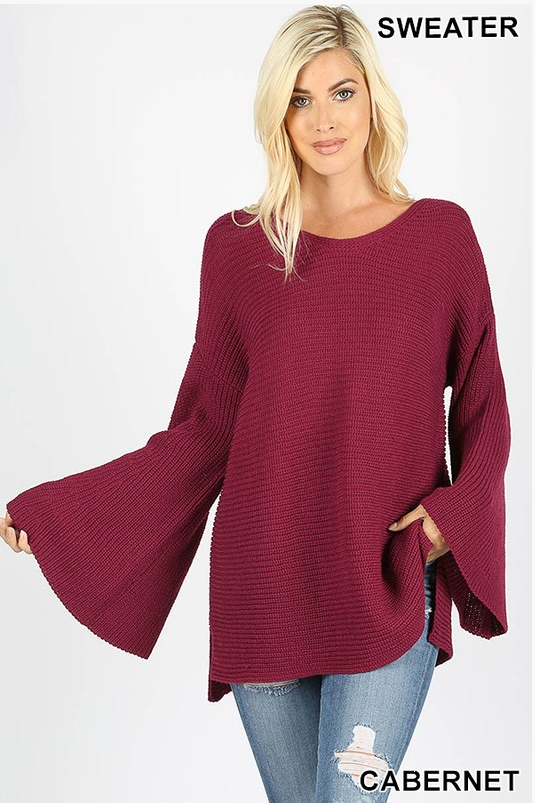 PRE-ORDER  Bell Sleeve Sweater