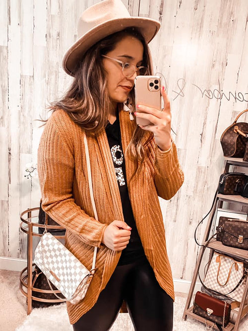 Bundle Up Buttercup Cardigan - HONEY TAN (Special Order - Guaranteed Shipment to you within 30 business days of your order date!)