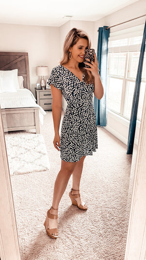 Daisy Me Rollin Wrap Dress *LUXE COLLECTION*