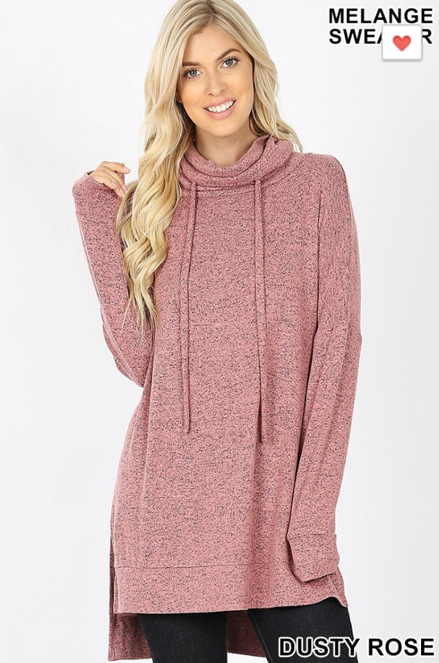 Cozy Brushed Pullover - Mauve