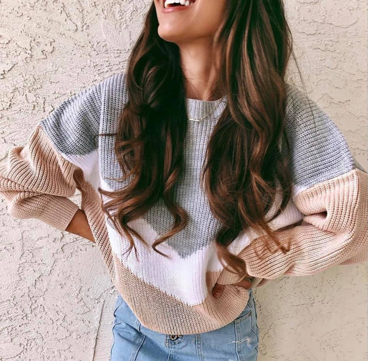 PRE-ORDER   Cutest Chevron Block Sweater  (Estimated ship OCTOBER)