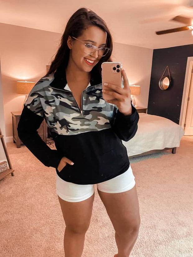 Cute As Can Be Camo Pullover (Special Order - Guaranteed Shipment to you within 30 business days of your order date!)