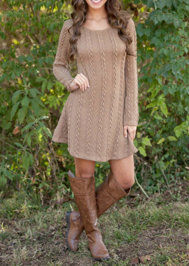 PRE-ORDER  Cable Knit Lightweight Dress   (Est. Ship - NOVEMBER)