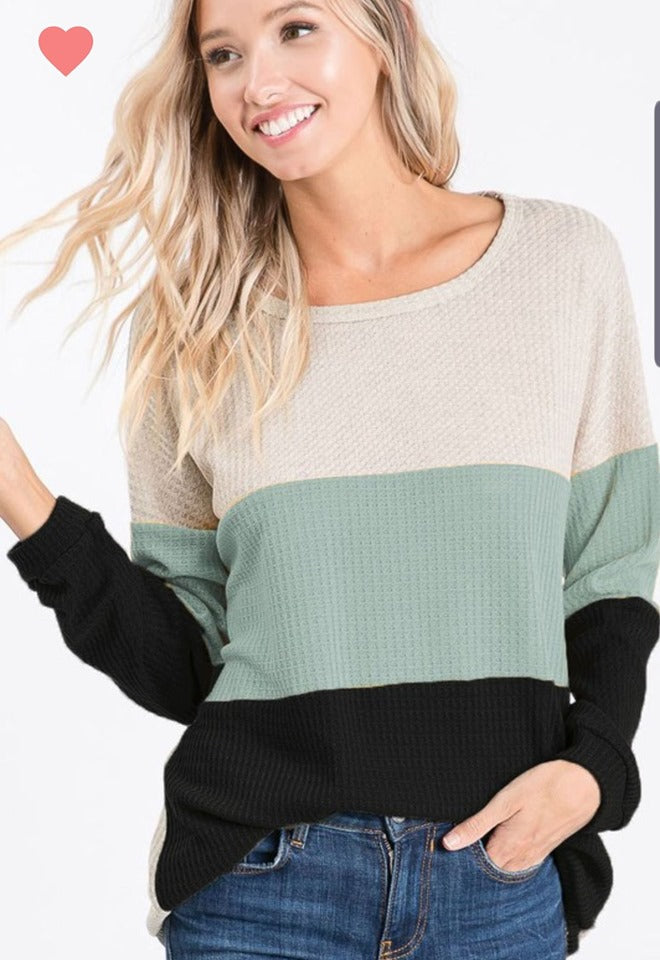 PRE-ORDER   City Nights Waffle Top   (Est. Ship  NOVEMBER)