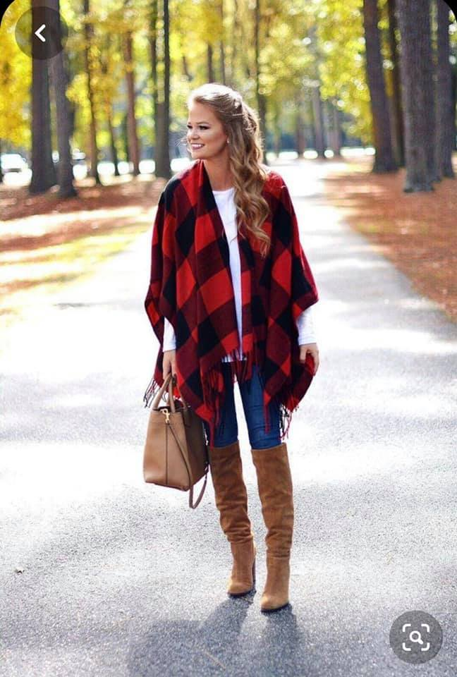 Cutest Plaid Poncho Ever!