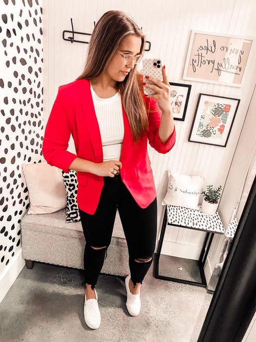 Command the Room Blazer - RUBY