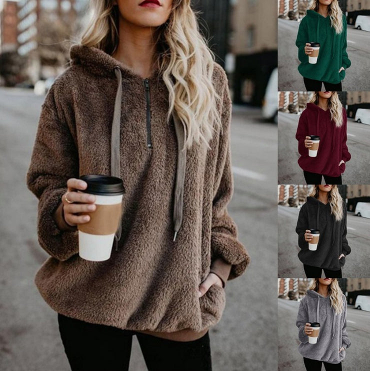 PRE-ORDER   Coziest Sherpa Hoodie Ever   (ESTIMATED SHIP TO SEPTEMBER & CO. IN JANUARY!!! )