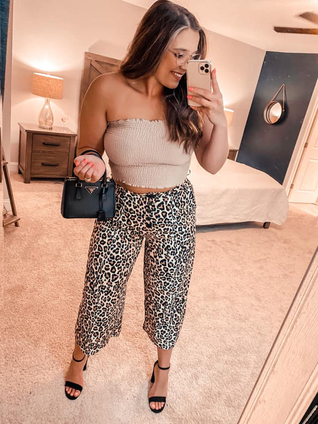 From Day to Date Leopard Crop Pants