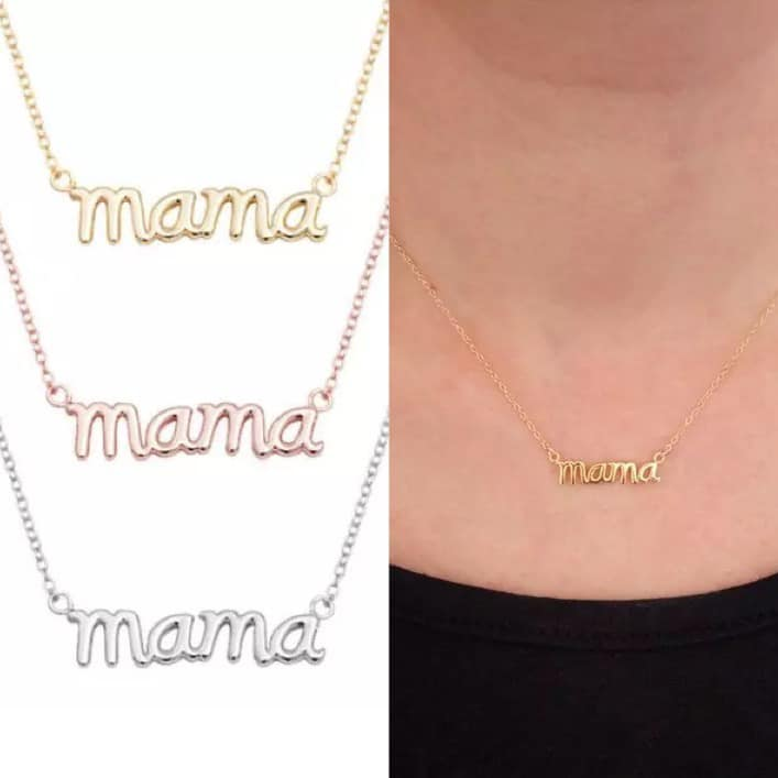 PRE-ORDER  Dainty Deal MAMA Necklace  (Ships to us in Late November!)