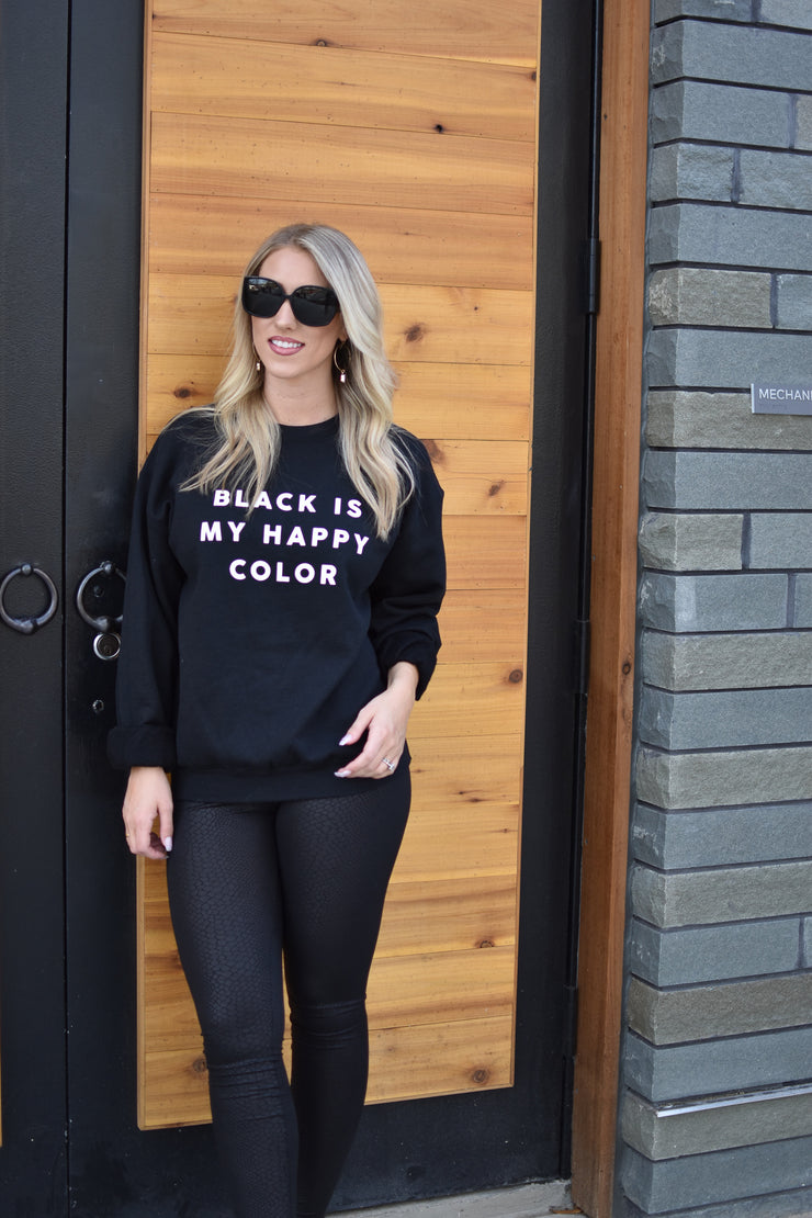 Black is My Happy Color Pullover