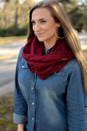 CC Cable Knit Infinity Scarves (3 Colors)