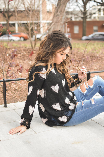 Love Story Distressed Sweater