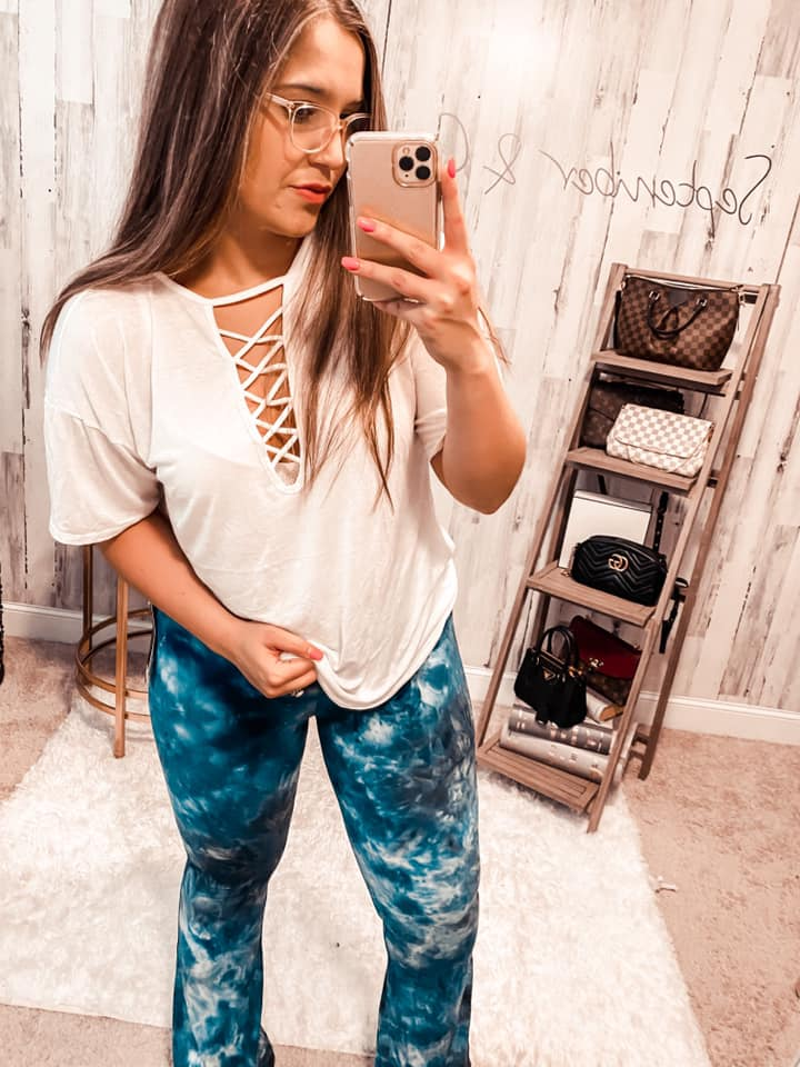 If I Stay Lace Up Top - IVORY