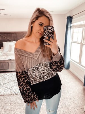 Fall In Line Leopard Pullover