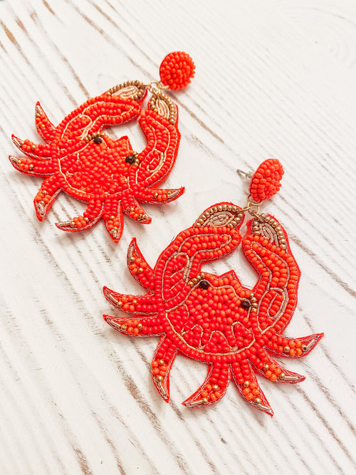Don't Be Crabby Statement Earrings