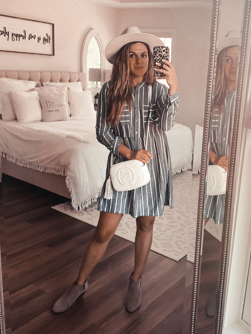 Sensational Striped Dress (PRE-ORDER: @frankie.gene collection - please allow at least 30 business days for shipment.)