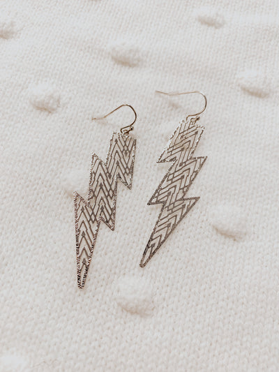Lucky Strike Earrings - Silver