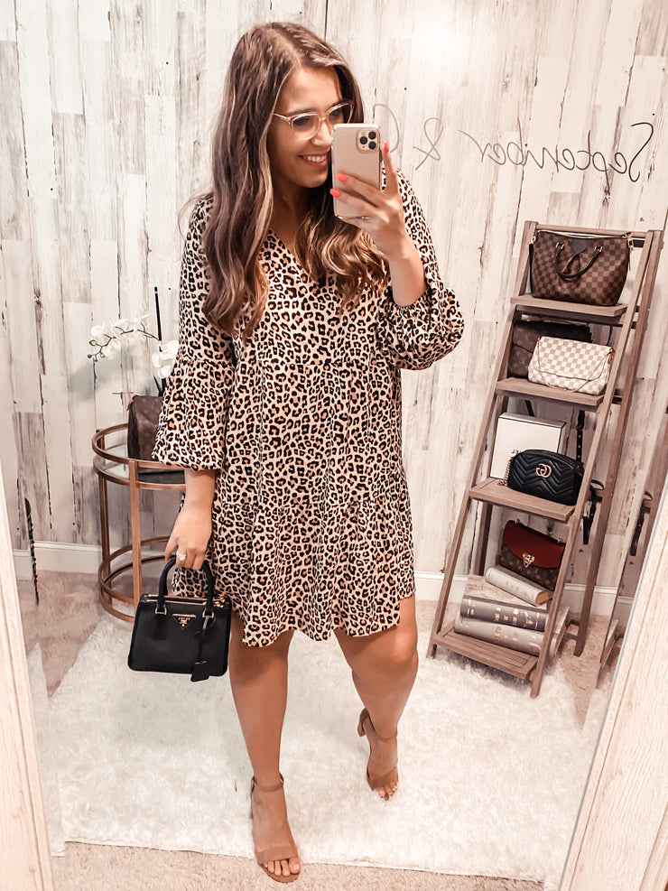 Never Gets Old Leopard Dress (Special Order - Guaranteed Shipment to you within 30 business days of your order date!)