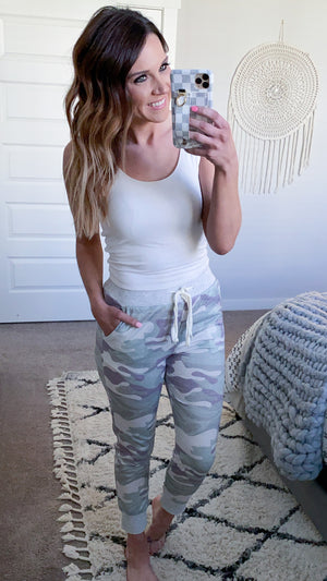 Carefree Camo Joggers (PRE-ORDER: The @hilary.lyday Collection)