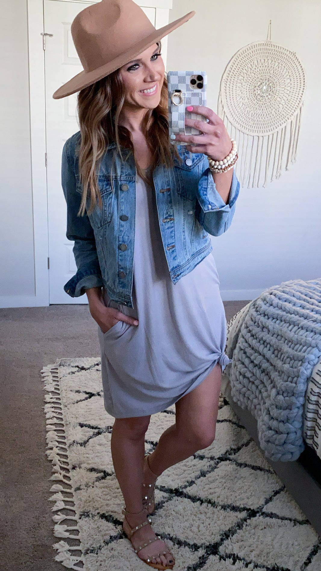 Perfect T-Shirt Dress - Grey (PRE-ORDER: The @hilary.lyday Collection)