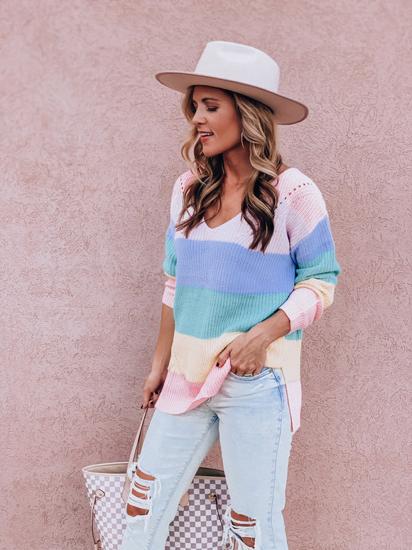 Life In Color Sweater (PRE-ORDER: The @allisonvrhovac Collection)