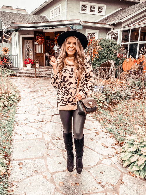 Fall Forever Leopard Sweater (PRE-ORDER: @frankie.gene collection - please allow at least 30 business days for shipment.)