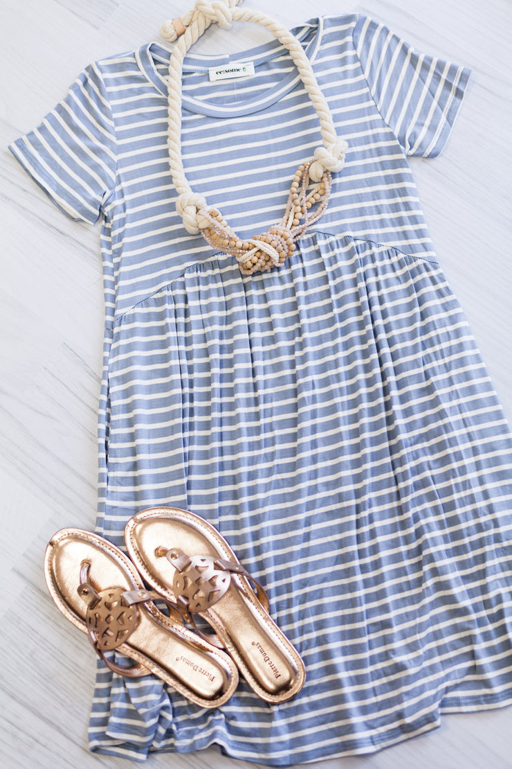 Baby Boy Blue Mini Dress
