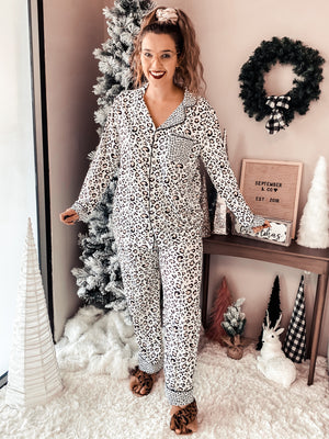 PRE-ORDER Turning The Page Leopard Pajamas