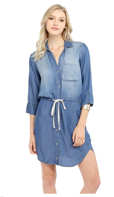 Indigo Button Down Dress
