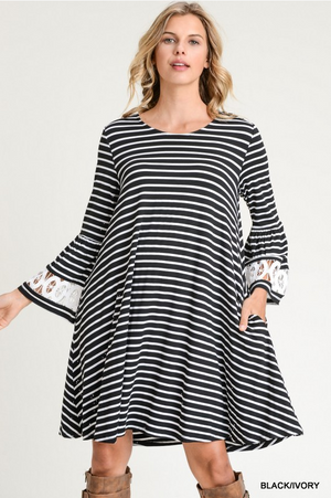 Lacey Striped Dress