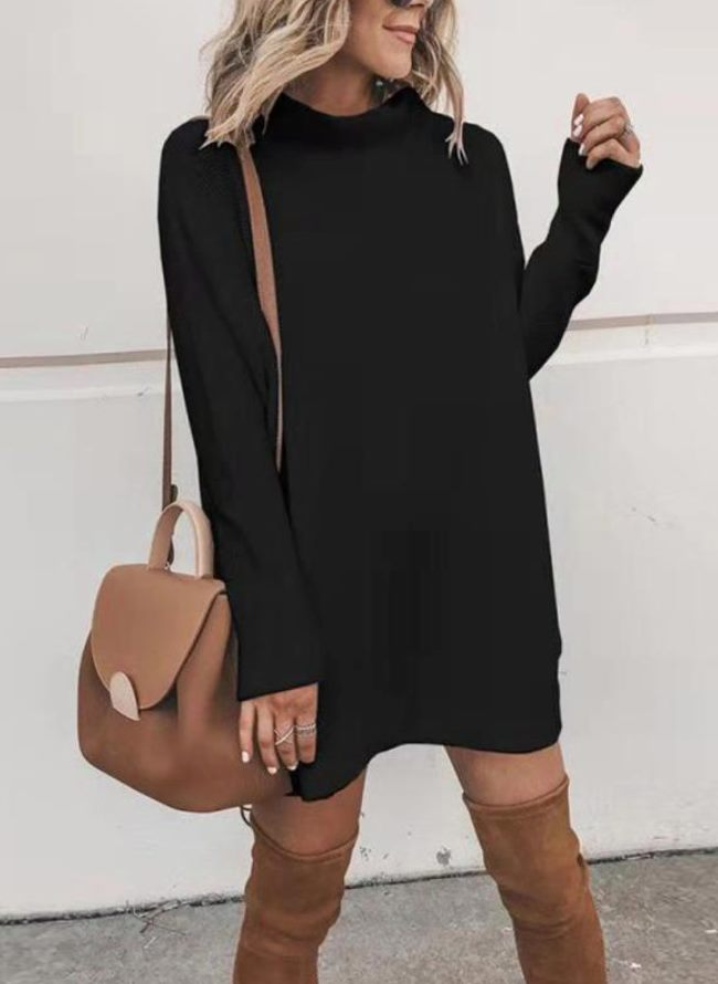 Lightweight Sweater Tunic Dress