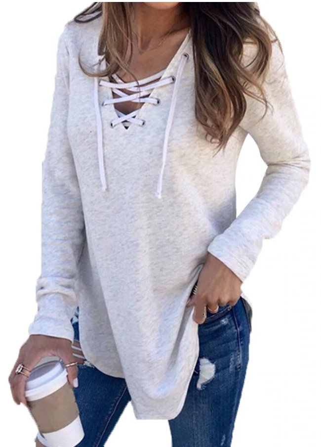 Hot Seller  RE-ORDER  Lace Up Tunic  (Estimated Ship  DECEMBER)